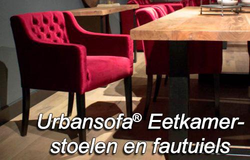 UrbanSofa eetkamerstoelen en eetkamerfauteuils bij Singel Meubelen Purmerend